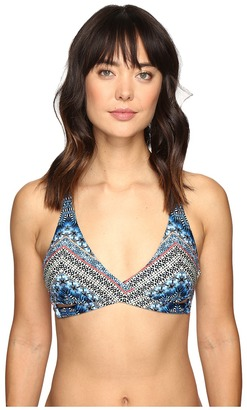 Lucky Brand Nomad Chevron Reversible Faux Wrap Bra Top $74 thestylecure.com