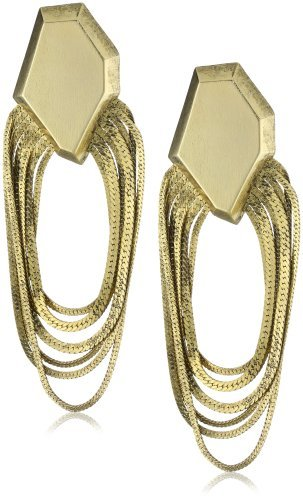 Citrine by the Stones 18k Gold-Plated Faceted Chain Earrings