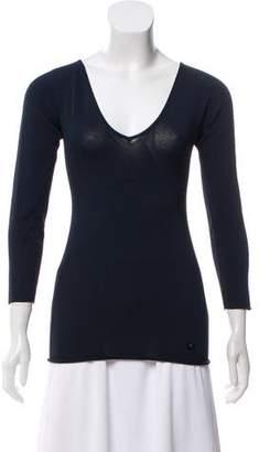 Chanel Knit V-Neck Top