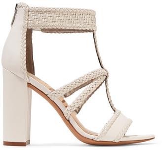 Sam Edelman - Yordana Woven Leather Sandals - White $150 thestylecure.com