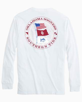 Southern Tide Gameday Nautical Flags Long Sleeve T-shirt - University of Oklahoma