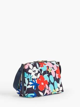 Talbots Floral Nylon Satchel Crossbody bag