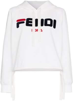 Fendi fila logo cotton hoodie