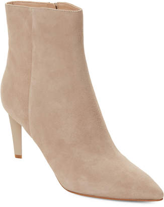 KENDALL + KYLIE Beige Pointed Toe Suede Ankle Booties