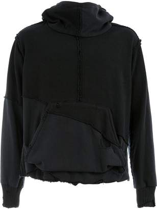 Greg Lauren distressed patchwork hoodie