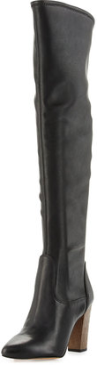 CIRCUS BY SAM EDELMAN Brooklyn Over-The-Knee Faux-Leather Boot, Black $109 thestylecure.com