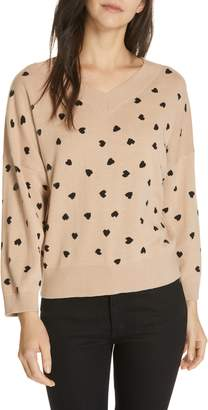 Kate Spade heartbeat silk blend sweater
