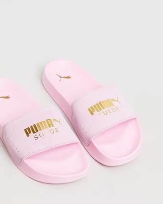 Puma Leadcat Suede Slides - Women's