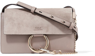 Chloé - Faye Small Leather And Suede Shoulder Bag - Gray $1,390 thestylecure.com