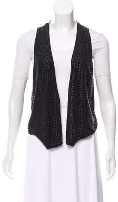 L'Agence Studded Silk Vest