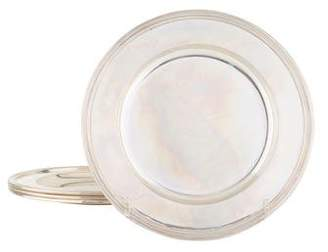 Cartier Set of 4 Sterling Silver Bread Plates