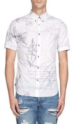 Alexander McQueen Scribble Print Button-Down Shirt