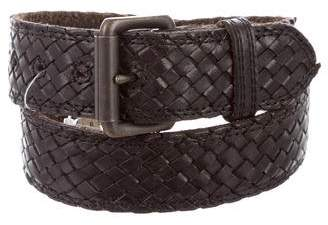 Barneys New York Barney's New York Woven Leather Belt