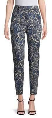 Diane von Furstenberg Mid-Rise Graphic Skinny Pants