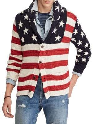 Polo Ralph Lauren Flag Printed Cardigan