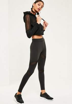 Missguided Active Mesh Panel Gym Leggings