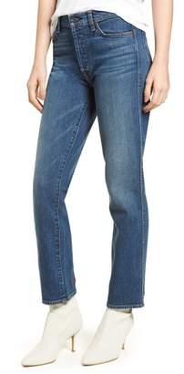 7 For All Mankind(R) Edie High Waist Crop Straight Leg Jeans