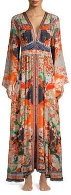 Camilla Kimono Sleeve Silk Dress