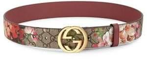 Gucci Floral Logo Print Belt