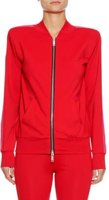 Unravel Boxy Zip-Front Side-Stripe Track Jacket