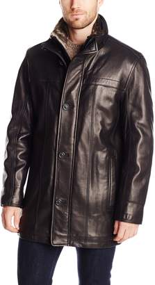 Andrew Marc Men's Sullivan Smooth Lamb Leather Car Coat