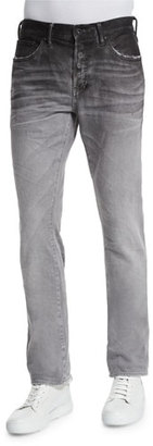 PRPS Ombre Slim-Fit Denim Jeans, Gray $250 thestylecure.com