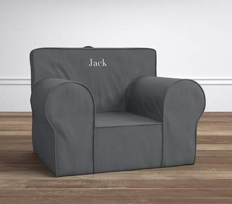 Pottery Barn Kids Charcoal Twill Oversized Anywhere Chair ̧ Slipcover Only