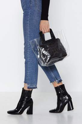 Nasty Gal WANT It's What's Inside Clear Tote Bag