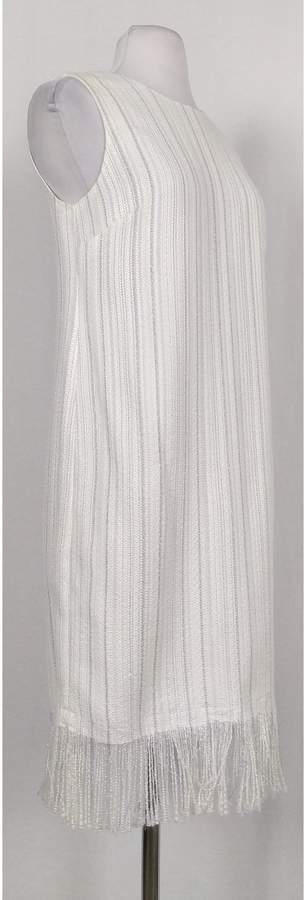 Karl Lagerfeld- White w/ Metallic Threads Dress Sz 4
