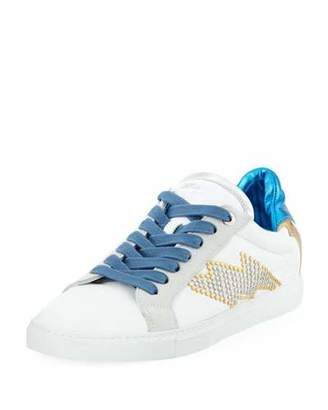 Zadig & Voltaire Flash Lightning Flat Studs Platform Sneakers