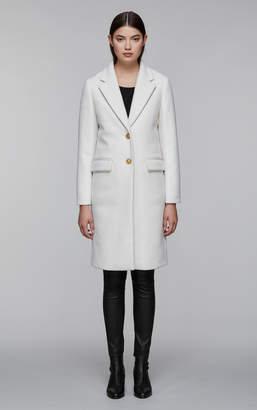 Mackage HENRITA classic long wool jacket with tailored collar