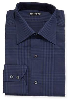 Tom Ford Men's Prince of Wales Plaid Dress Shirt