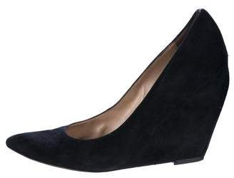 Jean-Michel Cazabat Suede Pointed-Toe Wedges