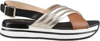 Hogan Ankle Strap Wedge Sandals