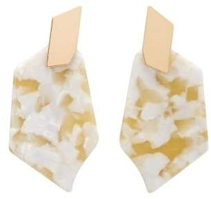 MANGO Tortoiseshell resin earrings