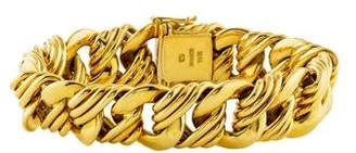 18K Curb Chain-Link Bracelet