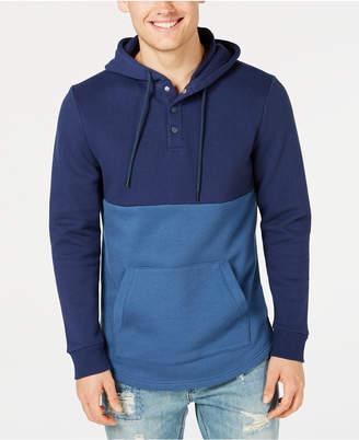 American Rag Men's Colorblocked Fleece Hoodie, Created for Macy's