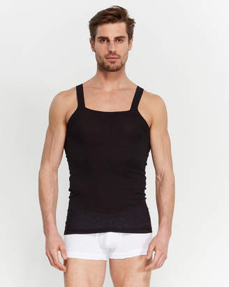2xist Two-Pack Square Neck Ribbed Tank