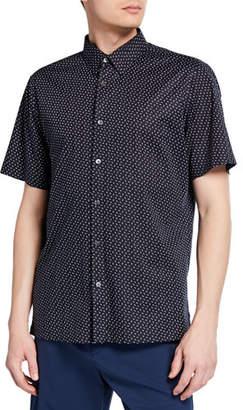 Theory Men's Irving Alder-Print Short-Sleeve Sport Shirt