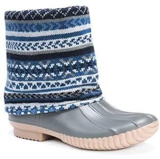 Muk Luks Women's Sydney Rainboots Rain Shoe 6 Medium US