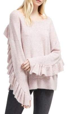 French Connection Emilde Ruffled Knit Pullover