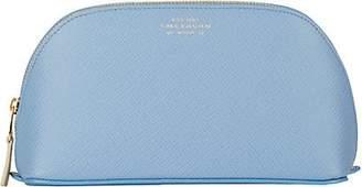 Smythson Women's Panama Cosmetic Case - Blue