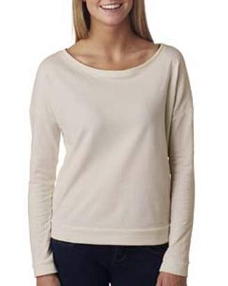Next Level Apparel Next Level Ladies' French Terry Long-Sleeve Scoop 6931