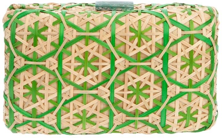 Serpui Marie 'bruna' bamboo clutch