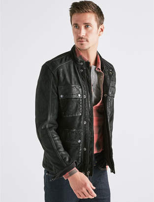 Lucky Brand FOUR POCKET LEATHER JACKET