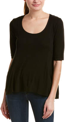 Three Dots Elbow-Sleeve T-Shirt