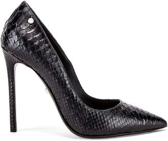 ALEVÌ Milano Carrie Pump in Black Snake | FWRD