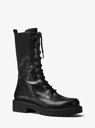 Michael Kors Brenna Calf Leather Combat Boot