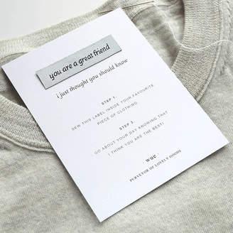 Keepsake Wue 'Great Friend' Sew In Label