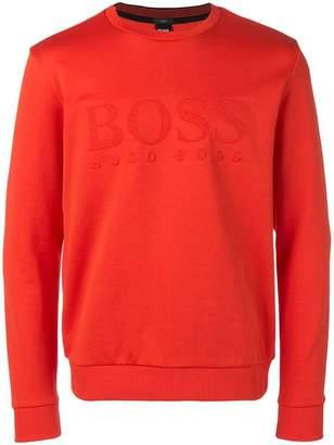 HUGO BOSS embossed logo sweatshirt